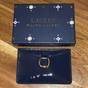 🎀Ralph Lauren Bennington Mini ID Card Case Navy